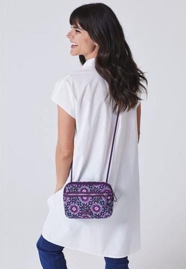 Vera RFID Little Crossbody in Lilac Handbag