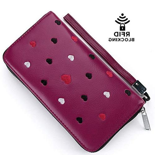 Buvelife Wallets Women,Credit Leather Zipper