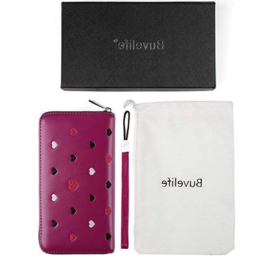 Buvelife Credit Card Holder with Zipper