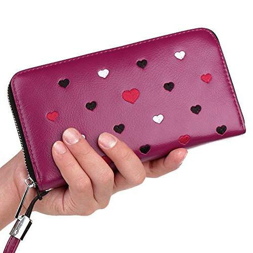 Buvelife Wallets Women,Credit Leather Credit Card Zipper