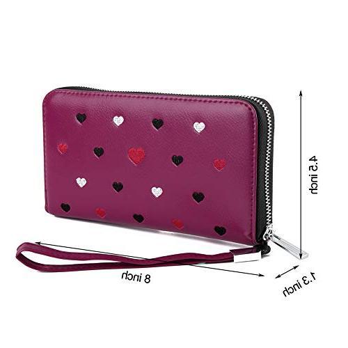 Buvelife Wallets Women,Credit Credit Card Zipper
