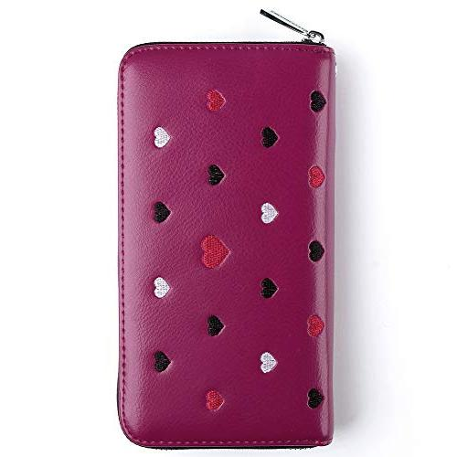 Buvelife for Women,Credit wallet Leather Credit with Zipper