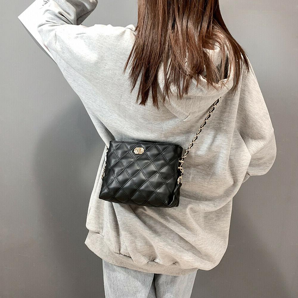 Fashion Chain Bag Purse PU Shoulder Bag