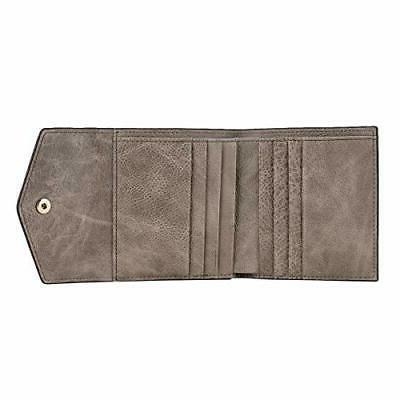 Small Leather Wallet Blocking Women's Holder Bifold Purse
