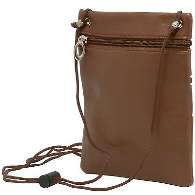 Soft Leather Shoulder Pocket Micro Travel