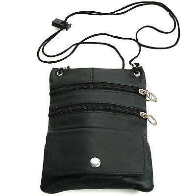Soft Leather Organizer Shoulder Bag Micro Handbag