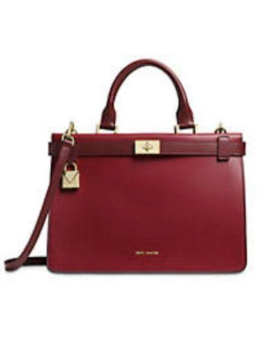 Michael Tatiana Maroon Burgundy Leather Purse