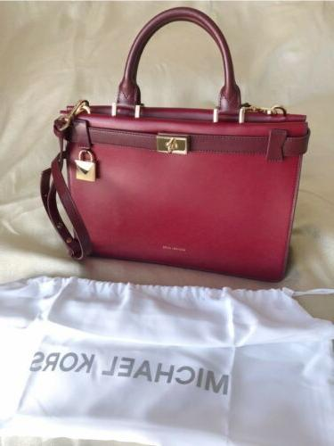 tatiana maroon burgundy leather purse new