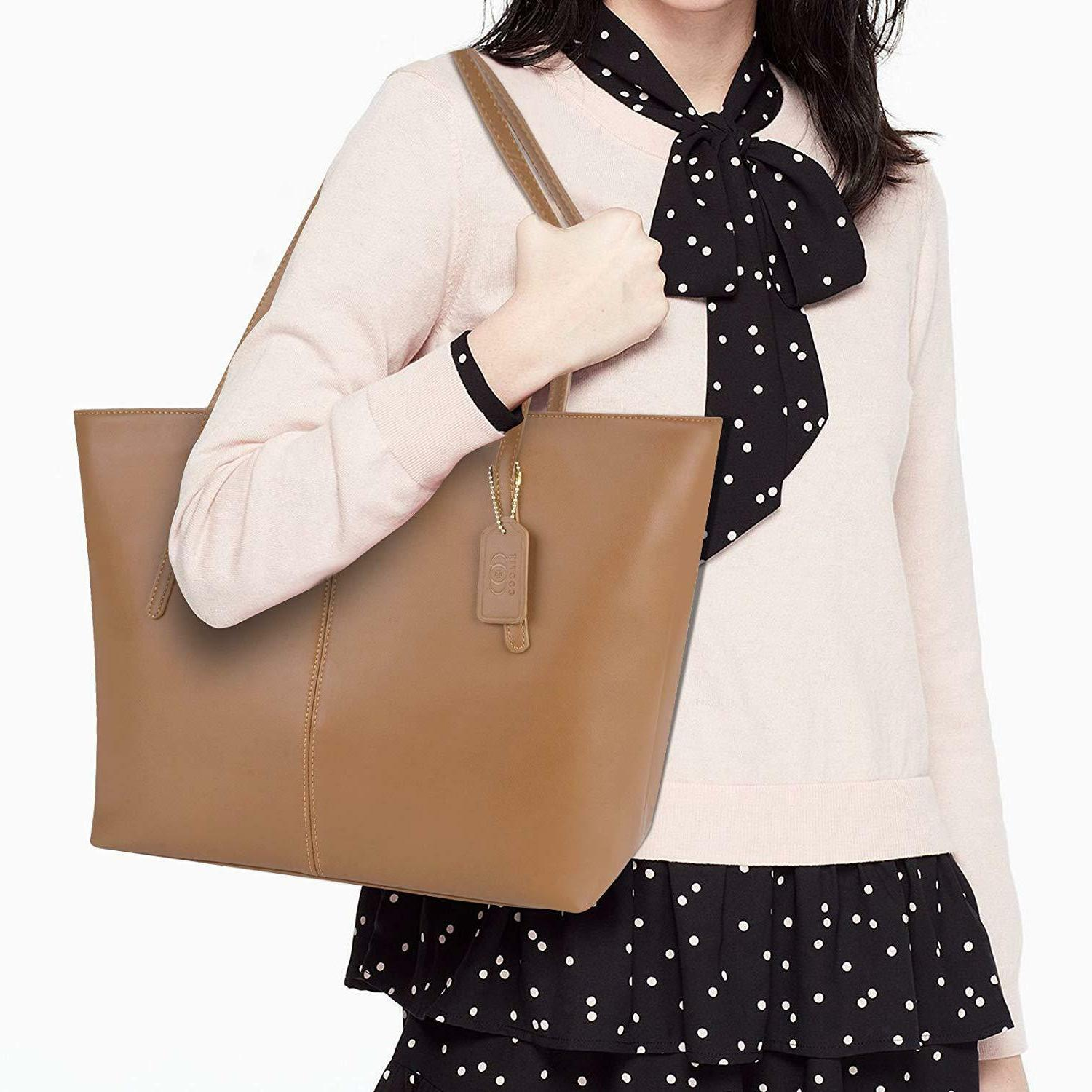 Tote and PU Leather Purse