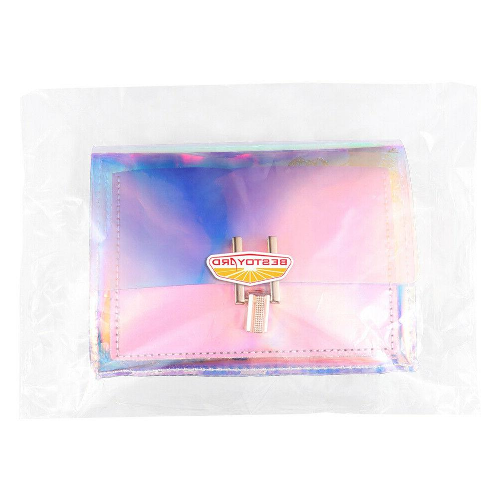 Transparent Colorful Bag Rainbow Laser Clear Jelly