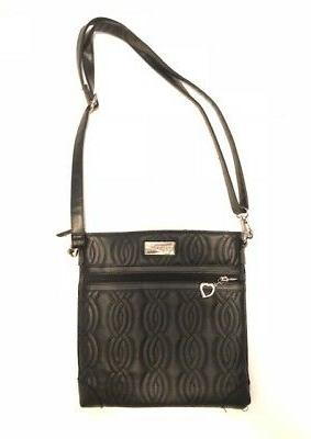 vegan crossbody shoulder purse handbag nwot blk