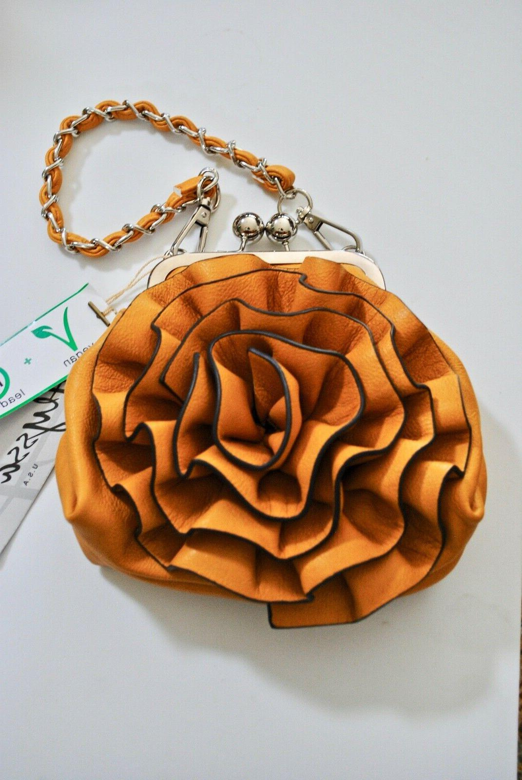 vegan faux leather pink purse handbag chain