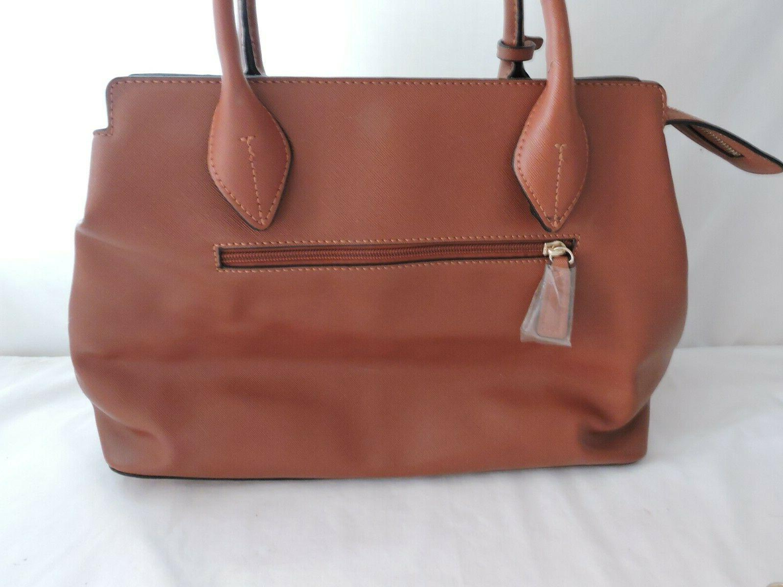 Alyssa Vegan Brown Leather Tote Hand