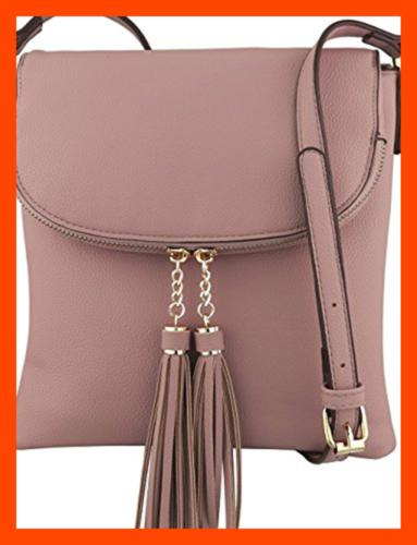 vegan medium flap over crossbody handbag w