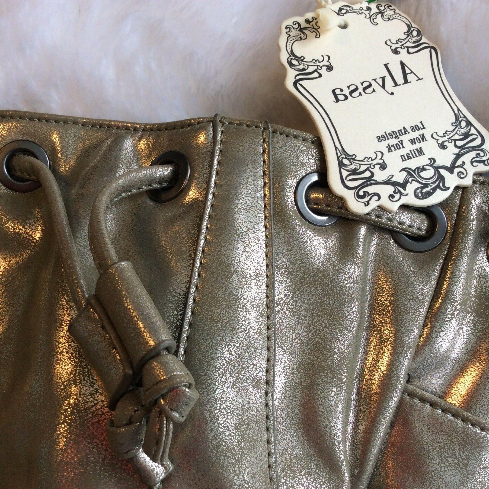 Alyssa Bag Metallic Gold Cinch Tassel