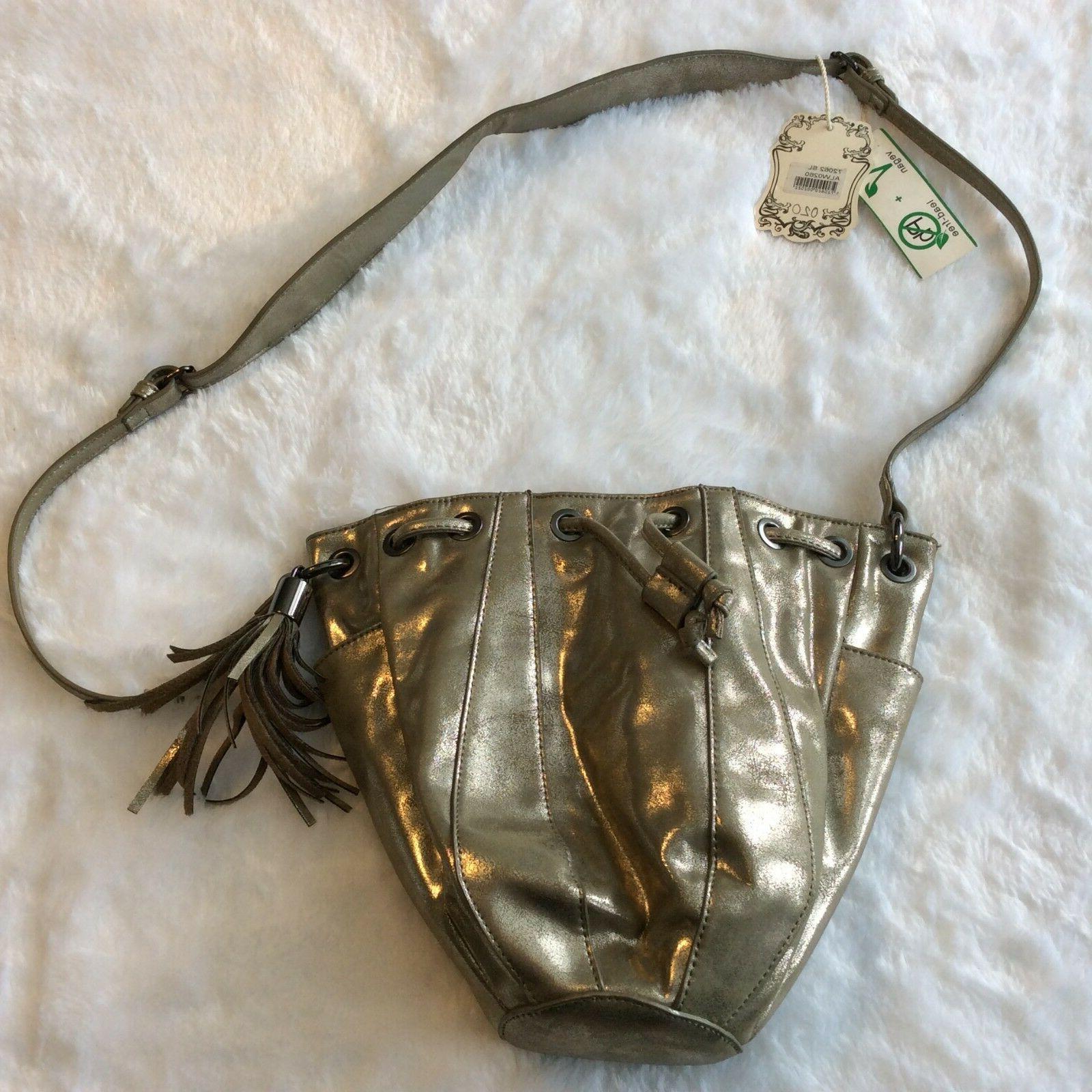 Alyssa Vegan Bag Cross Body Gold Tassel
