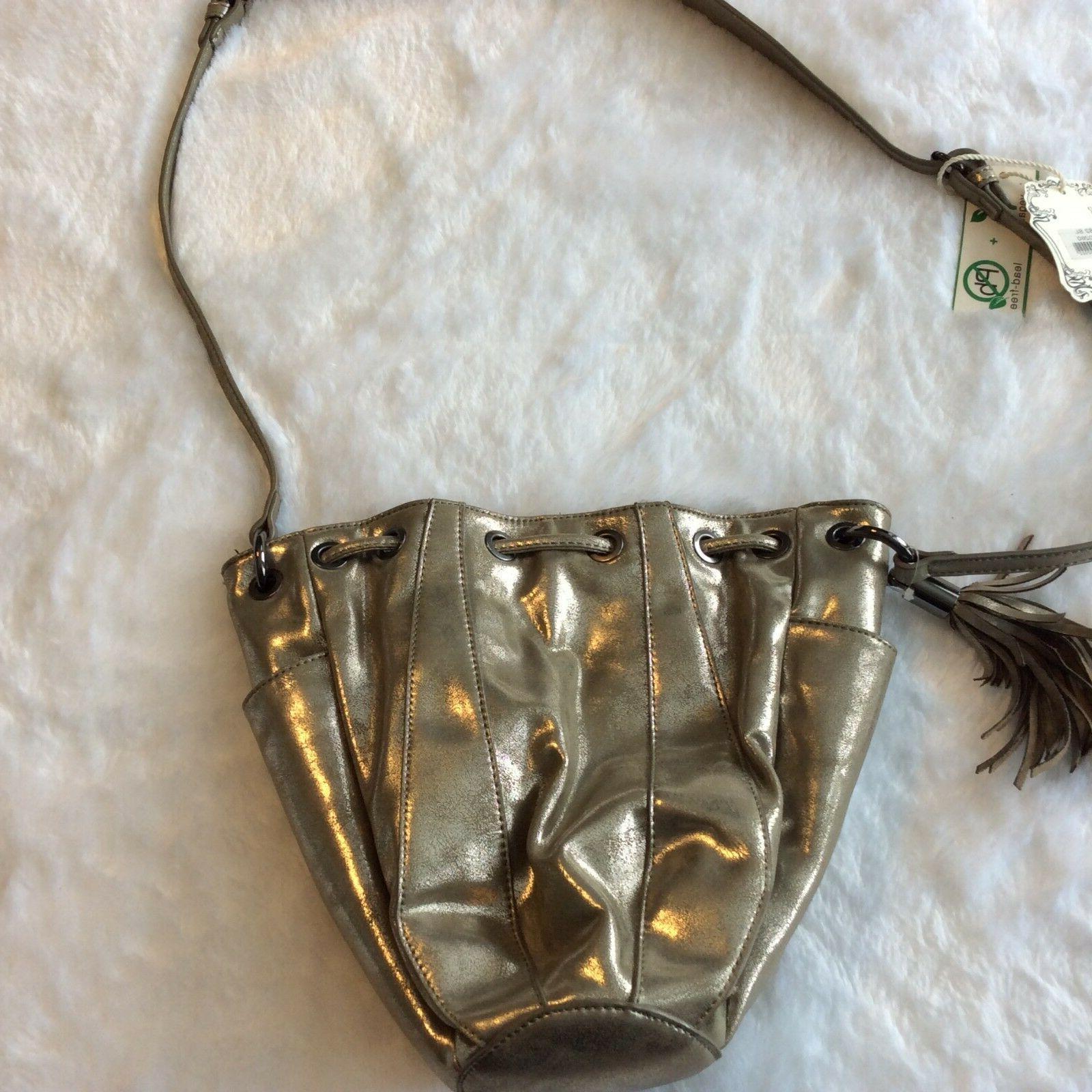 Alyssa Purse Bag Gold Taupe Medium Tassel