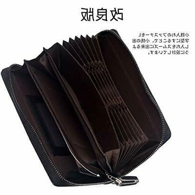Wallet Men's capacity card 22 Holds access Purs