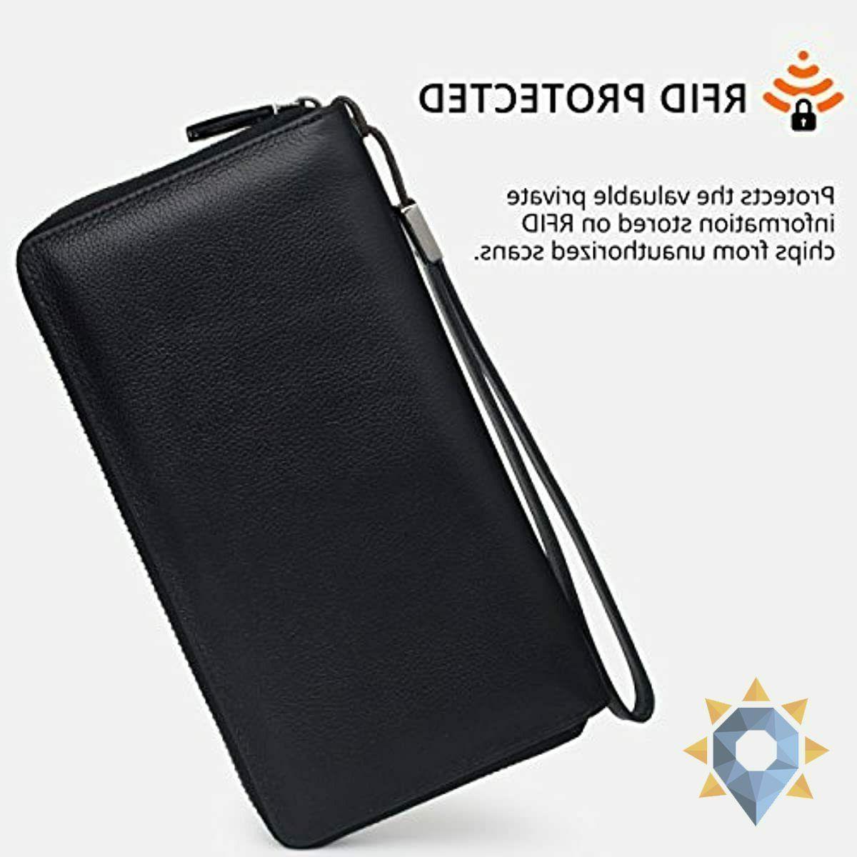 Wallet RFID Wallet Clutch Large Purse Women