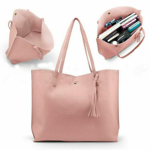 Women Synthetic Handbag Ladies Shoulder Bag Messenger Tote