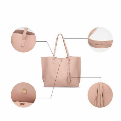 Women Synthetic Leather Handbag Ladies Shoulder Purse Messenger