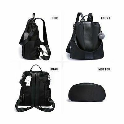Women Backpack Anti-Theft Rucksack Waterproof Nylon Lightweight School