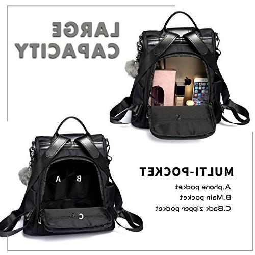 Women Backpack Purse Nylon Rucksack Lightweight School Shoulder