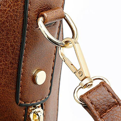 Women Leather Messenger Shoulder Crossbody Bag