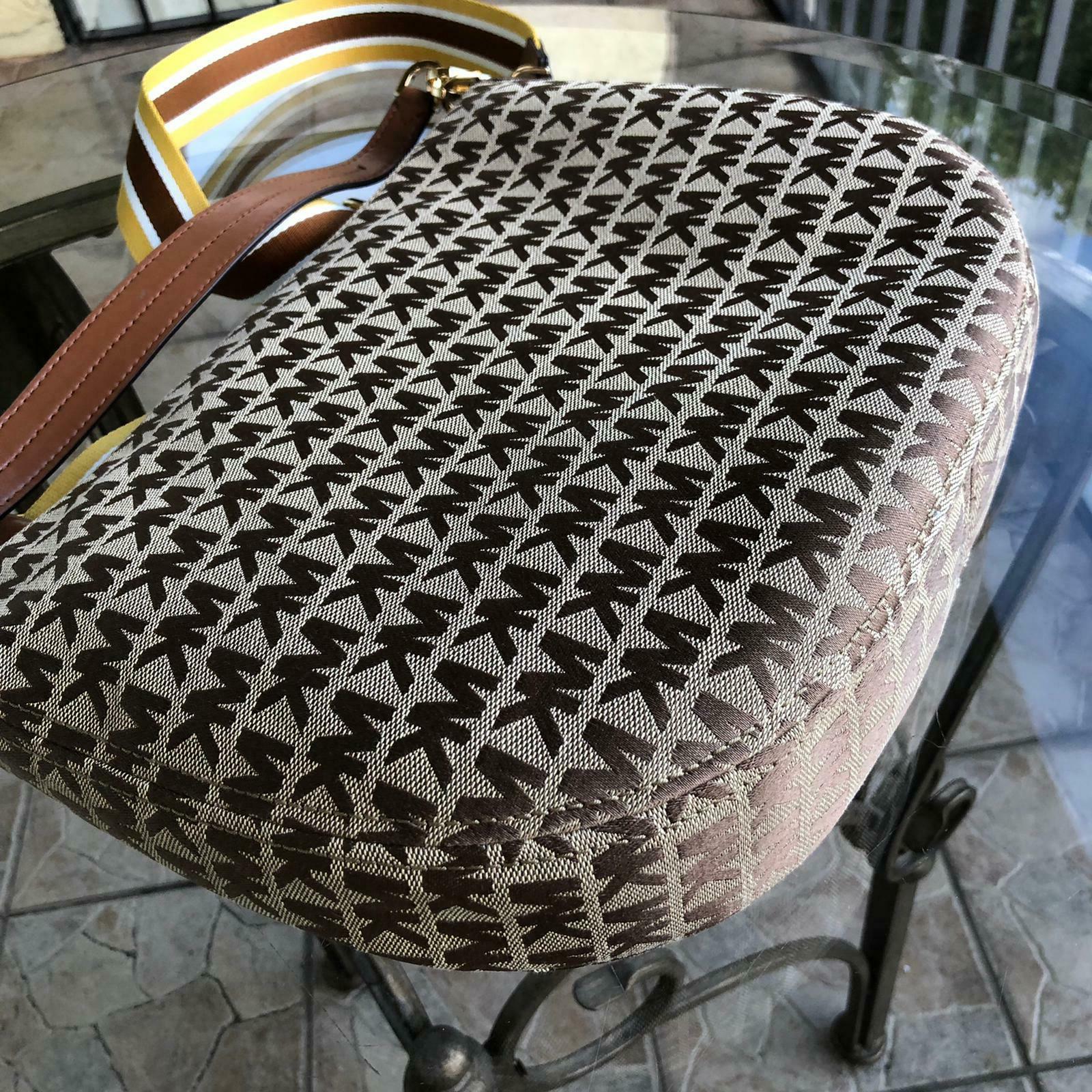 Michael Women Jacquard Leather Bag Handbag Purse Hobo