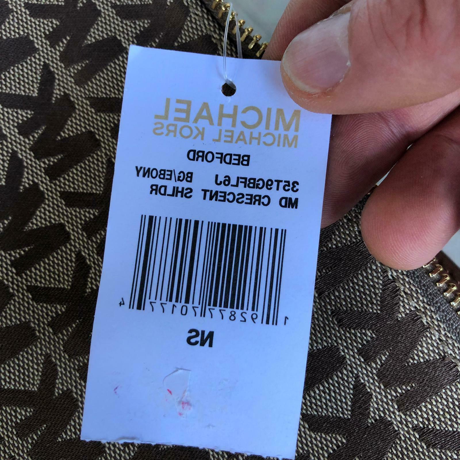 Michael Kors Women Jacquard Leather Shoulder Handbag Purse Hobo