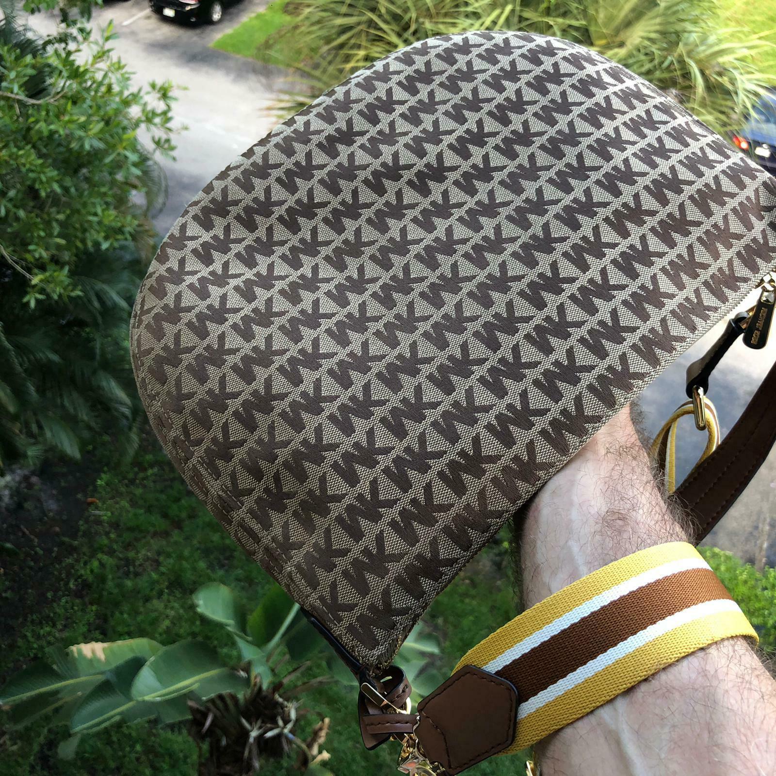 Michael Women Jacquard Leather Crossbody Shoulder Handbag