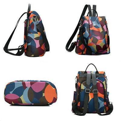 Women Backpack Purse Rucksack Waterproof Oxford Cloth School Bag HOT