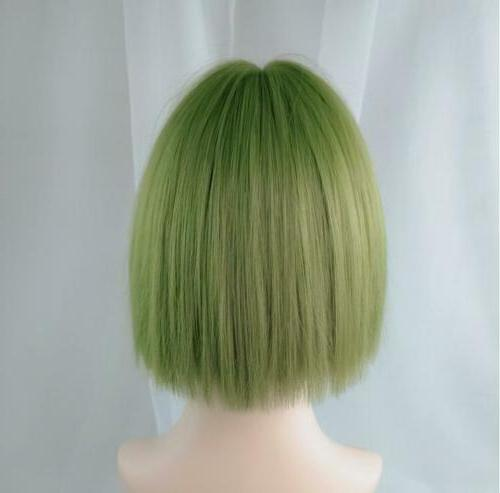 Women Lady Ombre Short Straight Hair Party
