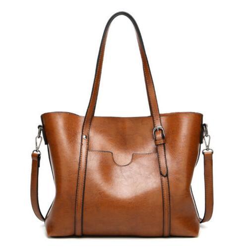Women Lady Leather Handbag Shoulder Crossbody