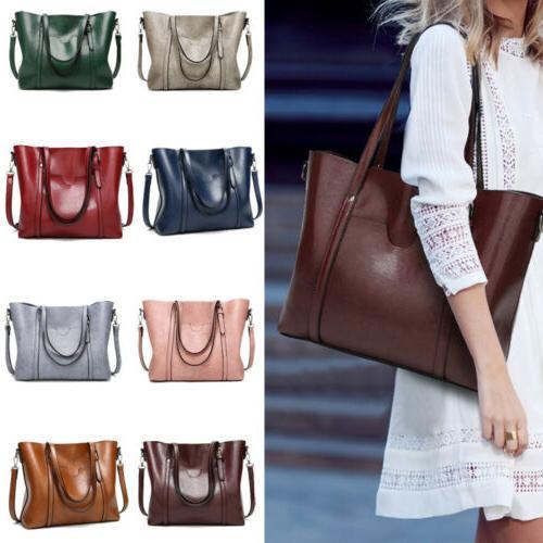 women lady leather handbag shoulder bag messenger