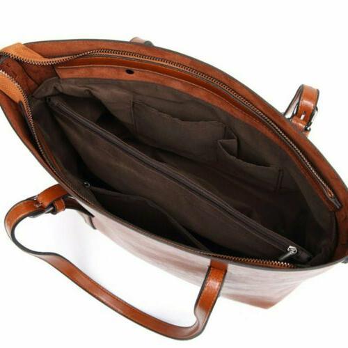 Women Handbag PU Shoulder Messenger Tote Purse Satchel