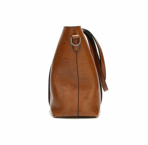 Women Large Retro PU Shoulder Bag Messenger Tote