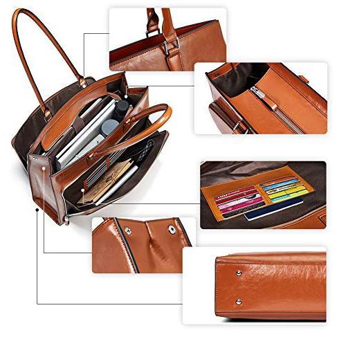 "BOSTANTEN Women Vintage Shoulder 15.6"" Tote Handbags"