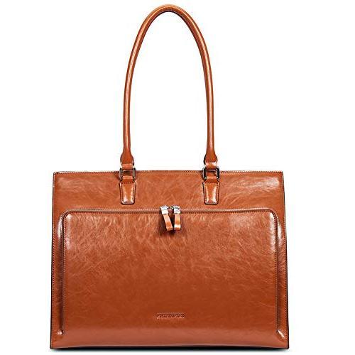 women leather briefcase vintage shoulder