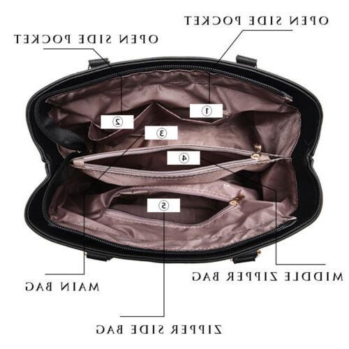 Women Leather Handbag Shoulder Bag Lady Purse