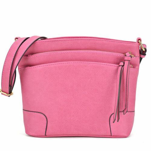 women multi pockets crossbody messenger bags shoulder