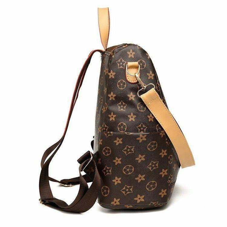 Women PU Backpack Bag Cute Cross Travel