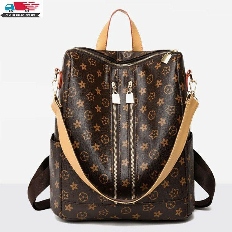 women pu leather backpack bag cute fashion