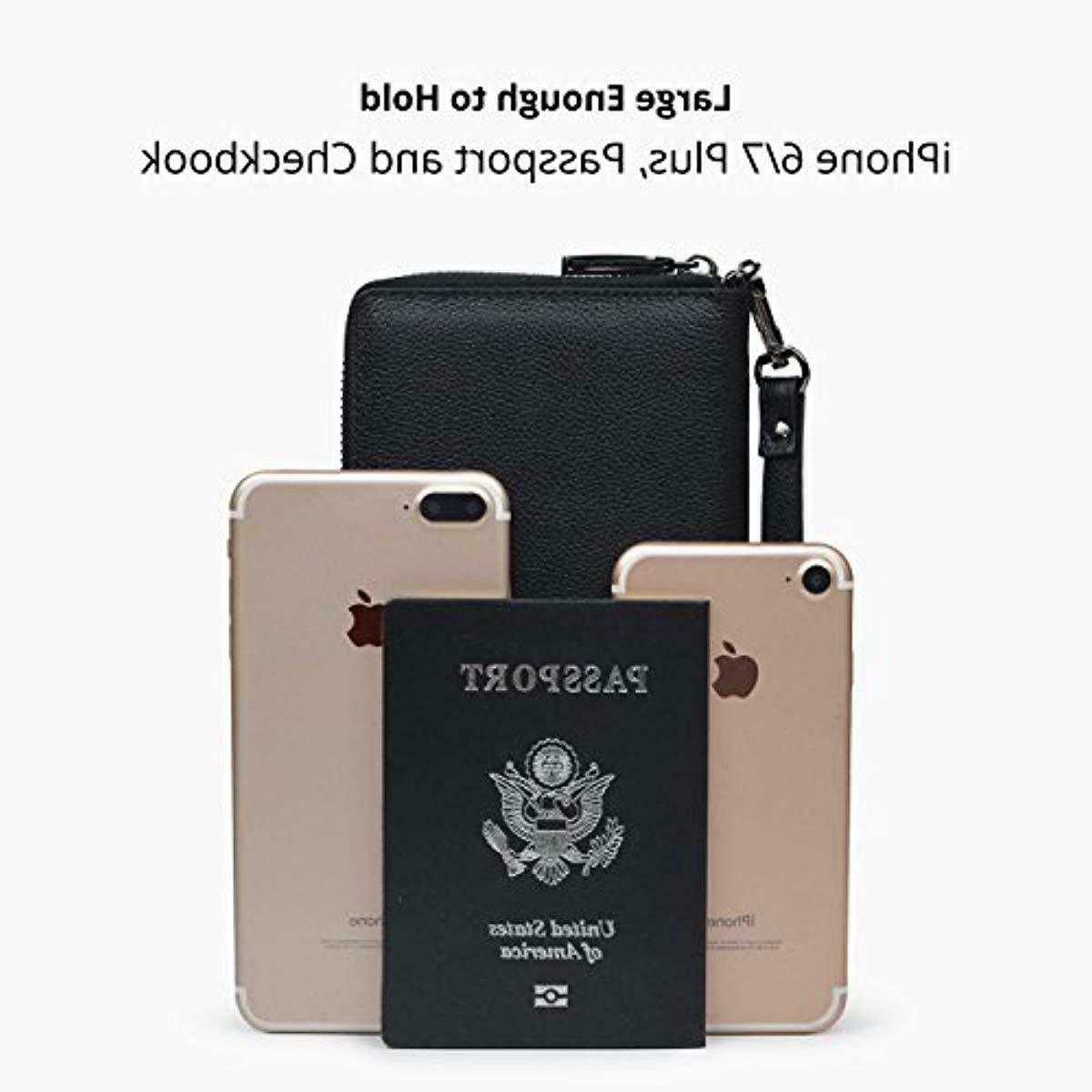 Bveyzi Wallet Leather Phone Purse