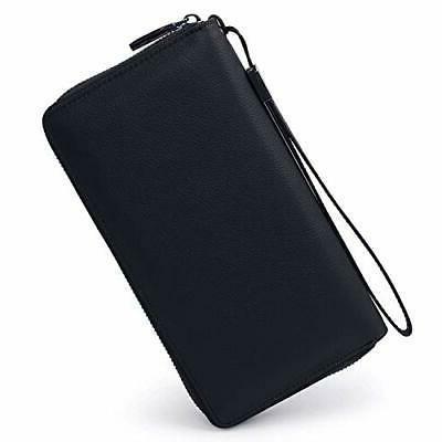 women rfid blocking wallet leather zip around