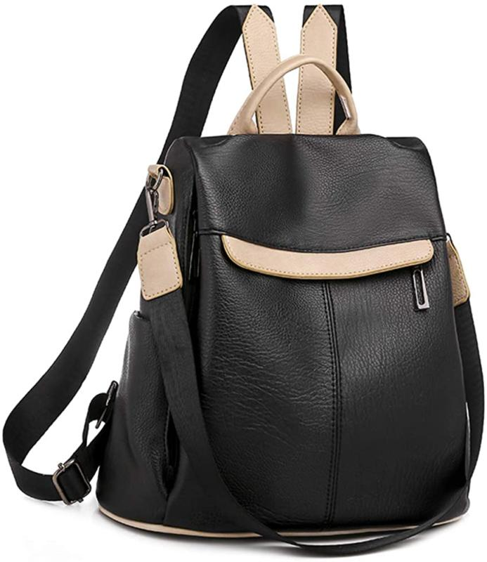 Women'S Anti Theft Convertible Backpack Purse Bookbag Leathe