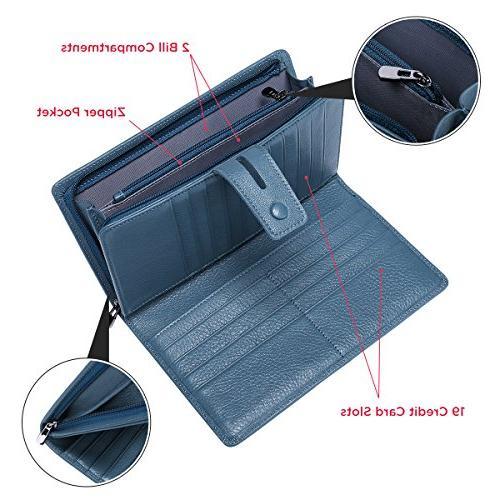 Itslife Rfid clutch organizer with checkbook holder