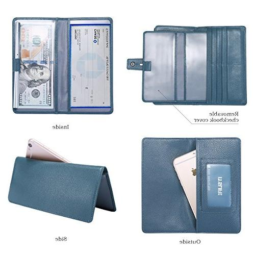 Itslife Women's Big Rfid Blocking Leather wallet clutch holder