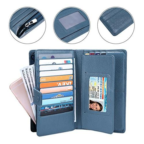 Itslife Rfid Leather wallet clutch