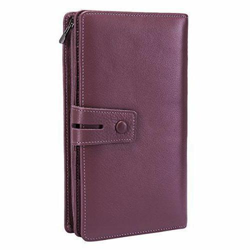 Itslife RFID Leather Wallet Checkbook Holder